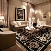 简欧风格大户型室内客厅装修效果图赏析