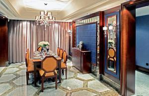 经典美式风格别墅室内餐厅窗帘装修效果图赏析