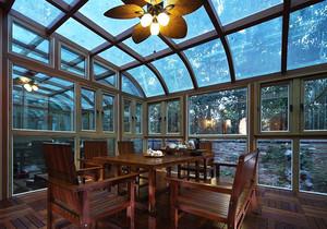 美式乡村风格别墅室内封闭式阳台装修效果图
