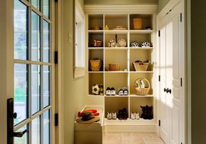 现代简约美式风格小户型室内玄关鞋柜设计装修效果图