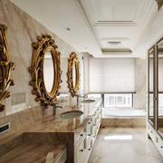 20平米欧式风格别墅室内卫生间装修效果图赏析