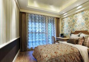 20平米欧式田园风风格卧室背景墙装修效果图鉴赏