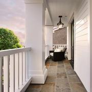 欧式风格精致别墅阳台装修实景图