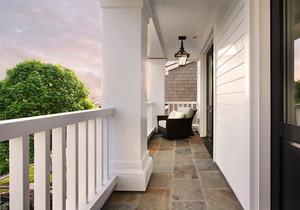 欧式风格精致别墅室内阳台装修实景图