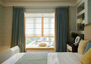 现代简约风格小户型卧室飘窗设计装修效果图
