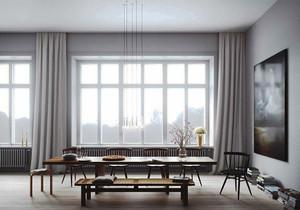 30平米日式简约风格餐厅设计装修效果图
