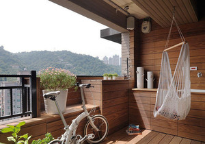 日式简约风格两居室阳台装修效果图