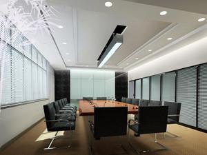 74平米现代风格会议室设计装修效果图