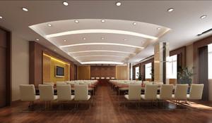 90平米现代风格大型会议室室内装修效果图赏析