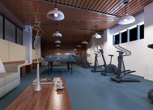 简约风格66平米健身房设计装修效果图