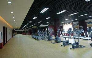 200平米超大空间健身会所健身房装修效果图