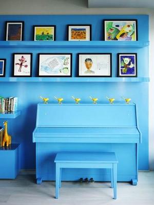 地中海风格儿童房照片墙装修效果图
