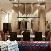 大户型后现代风格餐厅吊灯设计装修效果图