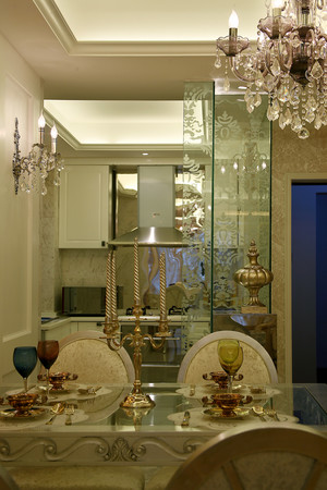 精致典雅简欧风格三室两厅一卫装修效果图