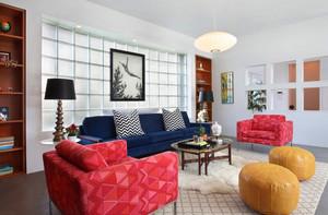 后现代风格客厅沙发摆放效果图赏析