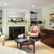 美式风格大户型室内客厅客厅储物柜装修效果图