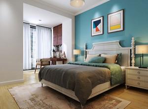 简欧风格大户型室内卧室背景墙装修效果图