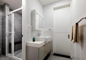 现代简约风格小户型小卫生间淋浴房效果图