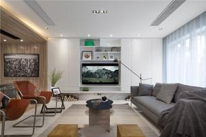 123平米现代简约风格跃层式住宅室内装修效果图赏析