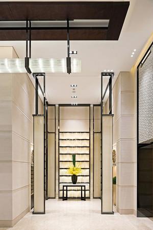 新中式风格大户型室内入户玄关柜装修效果图