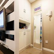 现代简约小户型玄关鞋柜设计装修效果图