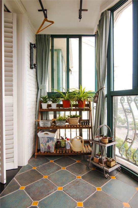 简约地中海风格阳台设计装修效果图