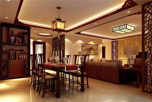 中式风格餐厅吊灯装修效果图