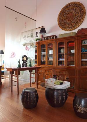 古朴中式风格小户型室内装修效果图