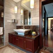 12平米中式风格大户型室内卫生间装修效果图赏析