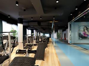 160平米现代风格健身房装修效果图