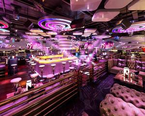 100平米后现代风格音乐主题酒吧装修效果图