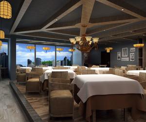70平米乡村风格餐厅设计装修效果图