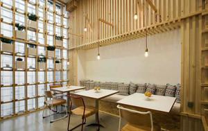 56平米宜家自然风格咖啡厅装修效果图