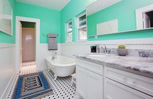 8平米清新自然风格小卫生间装修效果图
