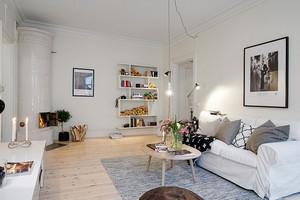 60平米北欧自然风格室内装修效果图