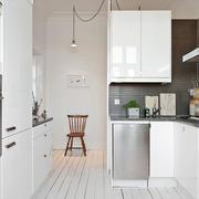 北欧风格三居室整体厨房装修效果图