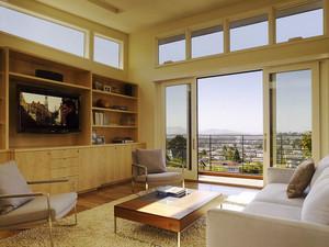 日式简约风格客厅电视组合柜装修效果图