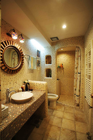 欧式混搭风格三居室室内设计装修效果图