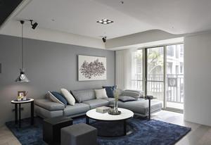 现代简约风格冷色调两室两厅室内装修效果图赏析