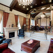 美式风格别墅室内客厅装修效果图赏析