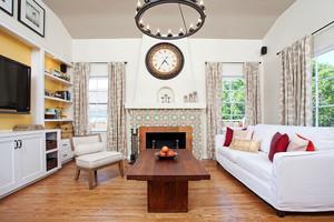 经典欧式田园风格客厅窗帘设计装修效果图