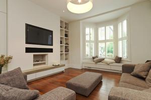 简欧风格大户型室内客厅飘窗设计装修效果图