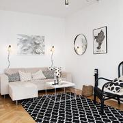 北欧风格两居室室内客厅沙发布置效果图