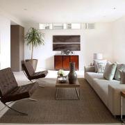 现代简约风格大户型室内客厅装修效果图