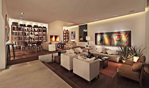 现代风格大户型客厅装修效果图赏析