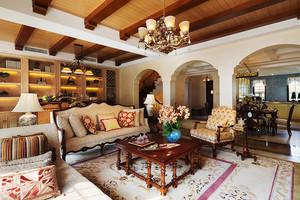 200平米复古美式风格别墅室内装修效果图赏析