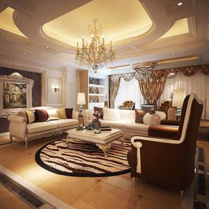 精致典雅欧式风格别墅室内装修效果图