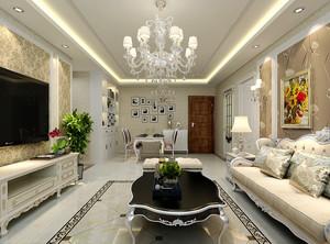 147平米欧式风格大户型室内装修效果图赏析