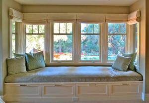简欧风格大户型室内飘窗设计装修效果图