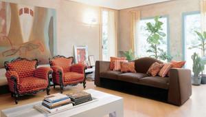 古典欧式风格别墅室内客厅沙发装修效果图